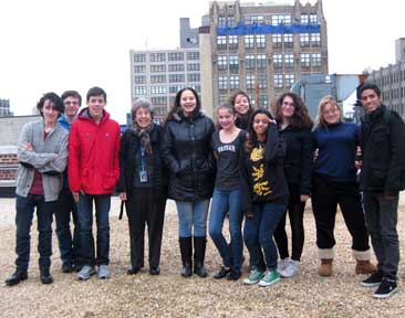 The Green Roof Team with Dr. Arrington on the roof.
